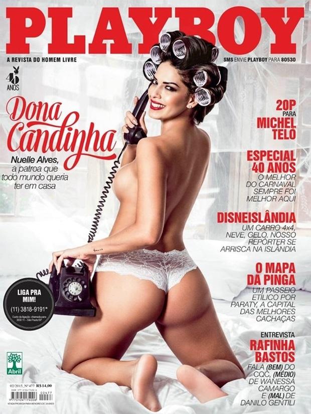 Playboy Fevereiro De 2015 Nuelle Alves