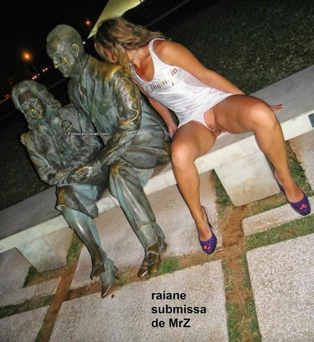 Corno Exibindo Esposa Exibida Em Publico