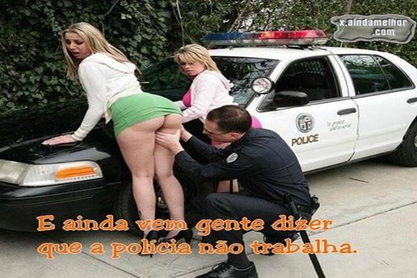 Policial Comeu As Duas Gostosas