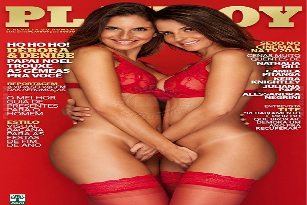 Playboy Dezembro De 2012: Debora e Denise Tubino