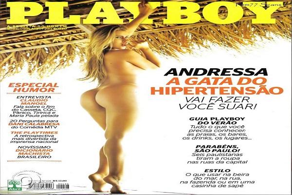 Playboy Janeiro De 2011: Andressa a Gata Do Hipersão