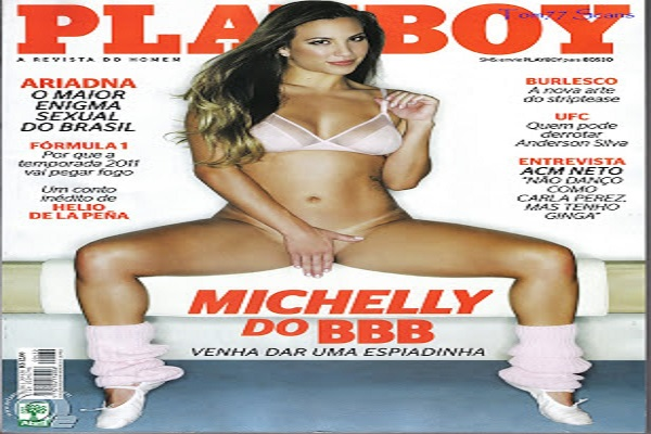 Playboy Março De 2011: Michelly Crisfepe BBB 11