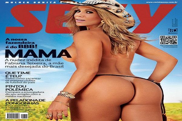 Revista Sexy Agosto De 2012: Fabiana Texeira