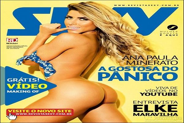 Revista Sexy Agosto De 2014: Ana Paula Minerato