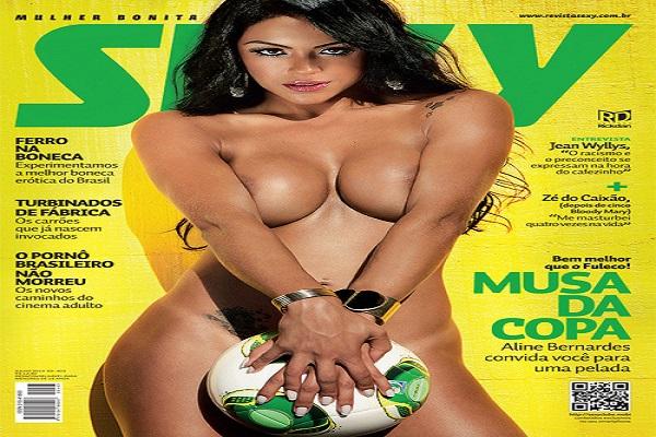 Revista Sexy Junho De 2013: Aline Bernardes
