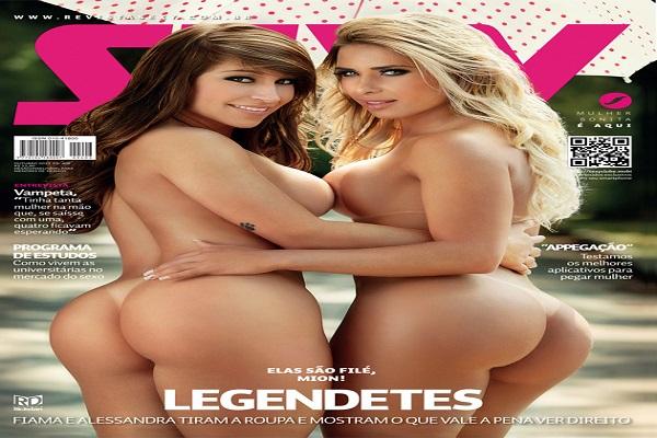 Revista Sexy Outubro De 2013: Fiama Amorim e Alessandra Batista