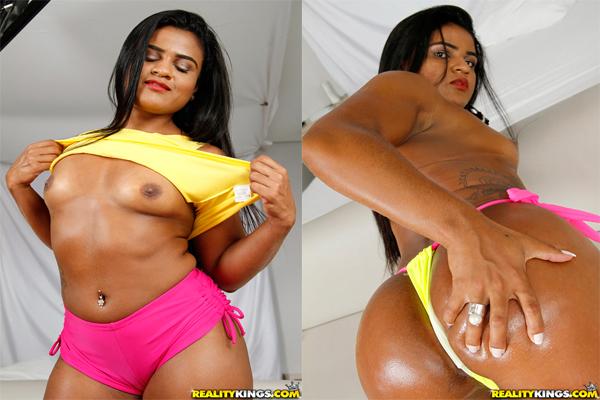 Ana Júlia Mulata Atriz Porno Brasileira Dando o Cú e a Buceta